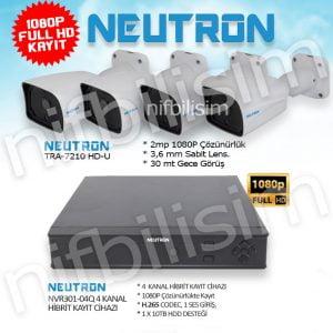 NEUTRON 4 Kamera ve Kayıt Cihazı set Tra-7210 - NVR301-04Q