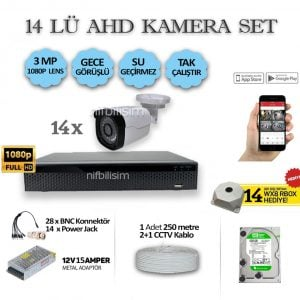 14LÜ-15AMPER-3MP-KAMERA-SET