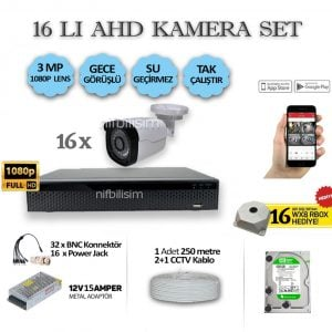 16LI-15AMPER-3MP-KAMERA-SET