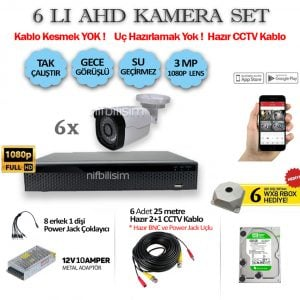 6lı-3MP-KAMERA-SET